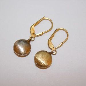 Sterlin silver round disk earrings